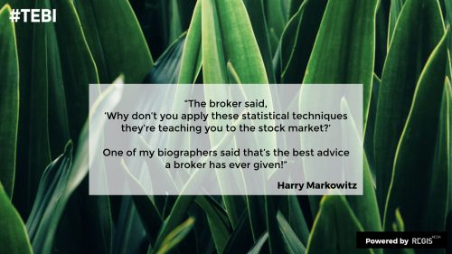 Harry Markowitz quote about the best advice he's ever gotten