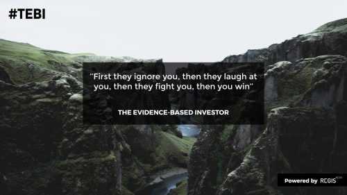 Ghandi quote to illustrate the change investing