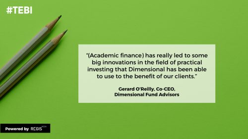 Gerard O'Reilly quote about academic finance