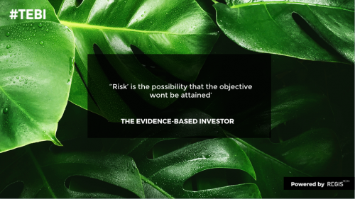 """""""Risk' is the possibility that the objective wont be attained'"""