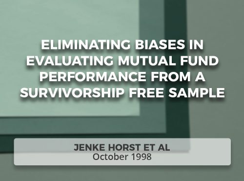 Eliminating Biases in Evaluating Mutual Fund Performance from a Survivorship Free Sample