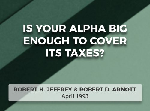 Is Your Alpha Big Enough To Cover Its Taxes?