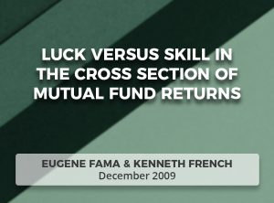 Luck Versus Skill in the Cross Section of Mutual Fund Returns