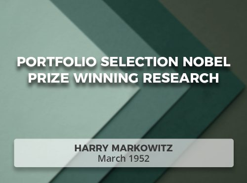 Portfolio Selection Nobel Prize Winning Research