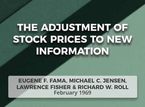 The Adjustment of Stock Prices to New Information