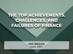 The Top Achievements, Challenges, and Failures of Finance