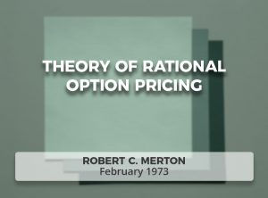 Theory of Rational Option Pricing
