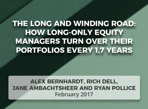 THE LONG AND WINDING ROAD: How long-only equity managers turn over their portfolios every 1.7 years