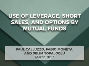 Use of Leverage, Short Sales, and Options by Mutual Funds