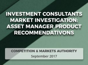 CMA Investment Consultants Market Investigation: Asset manager product recommendations