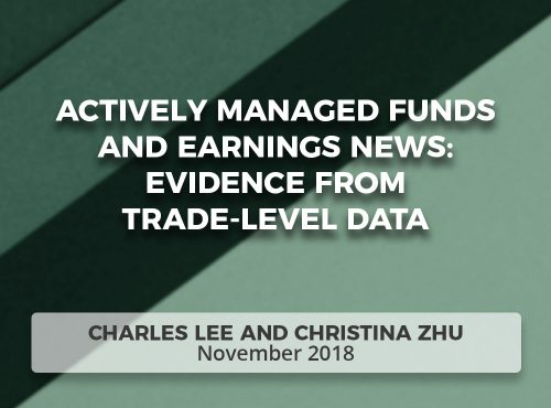 Actively Managed Funds and Earnings News: Evidence from Trade-Level Data