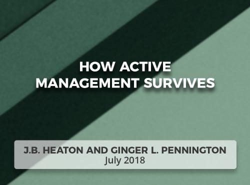 How Active Management Survives