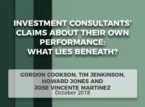 Investment Consultants' Claims about Their Own Performance: What Lies Beneath?