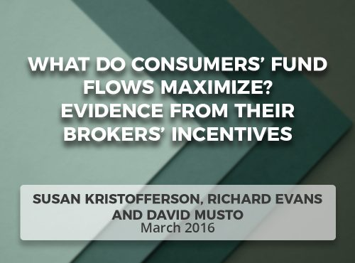 What Do Consumers' Fund Flows Maximize? Evidence from Their Brokers' Incentives