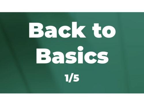 Back to Basics (1/5): Starting with evidence