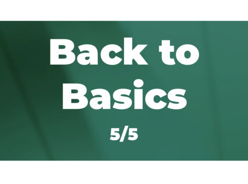 Back to Basics (5/5): Maintaining Discipline