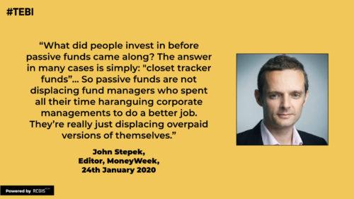 John Stepek on the growth of passive investing