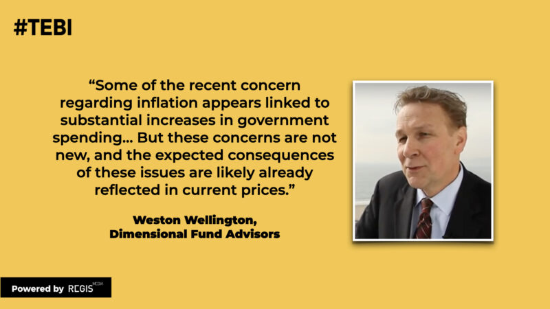 Weston Wellington from Dimensional Fund Advisors explains how fears about inflation are already incorporated into current stock prices